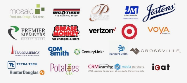 Above are logos of some of John's corporate clients.