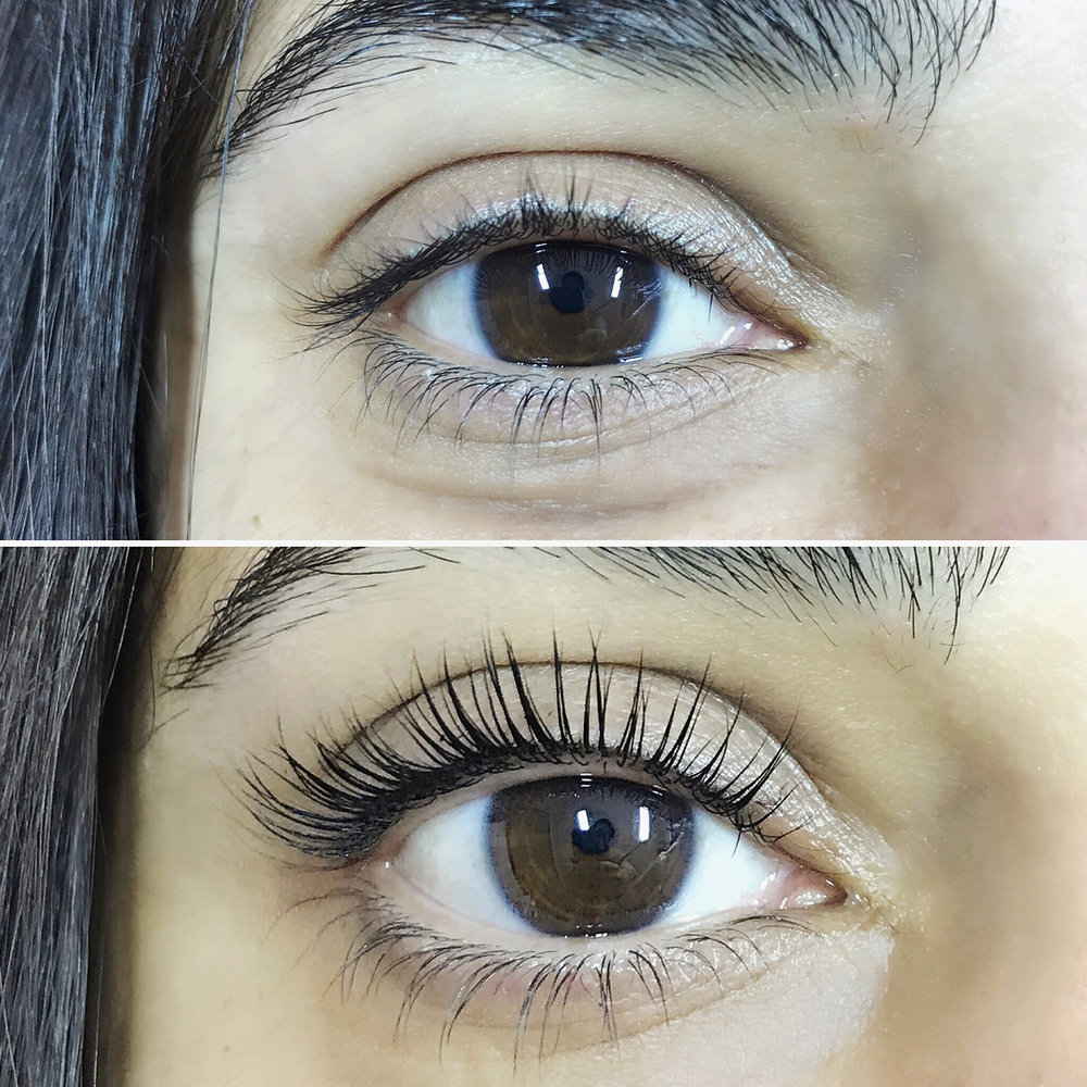 Lash Lift & Tint   Gives a semi-permanent curl to your natural lashes last 4-8 weeks depending on your lash cycle. Recommended for people with fuller, longer natural lashes.   90 mins    Lash Lift & Tint $75