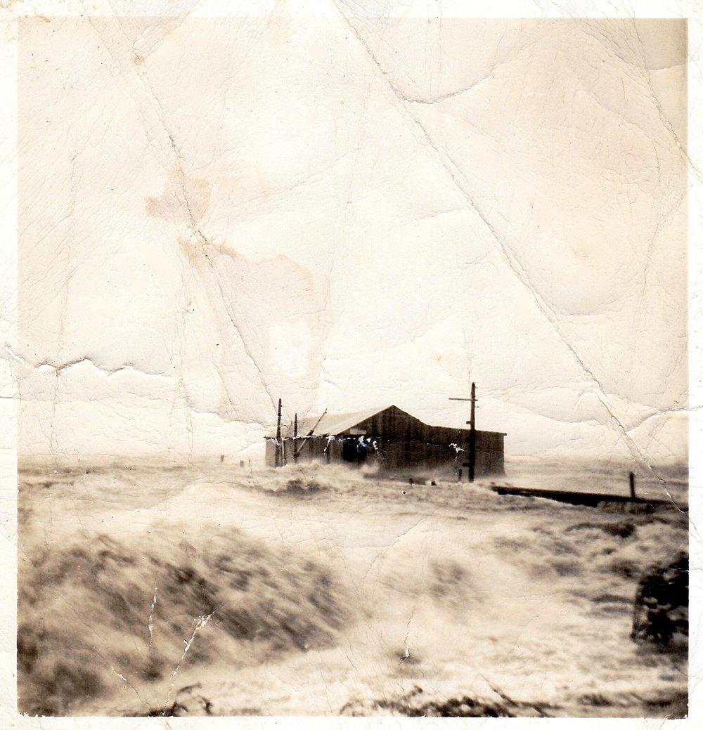 Henry's Dock during Hurricane Hazel.jpg