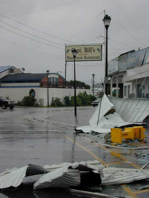 MHC., September 9, 1999 -- Hurricane winds devastate local businesses and houses. FEMA News Photo  Photo by FEMA News Photo - Sep 08, 1999 - Location: MHC