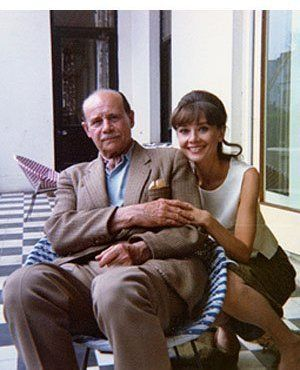 Audrey Hepburn reunited with her father