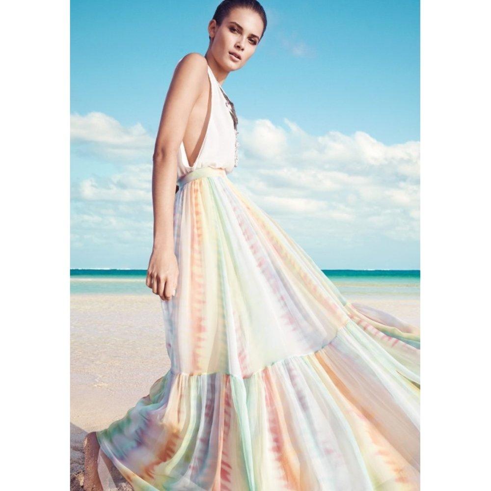 Rainbow Maxi Dress Myer Campaign.JPG