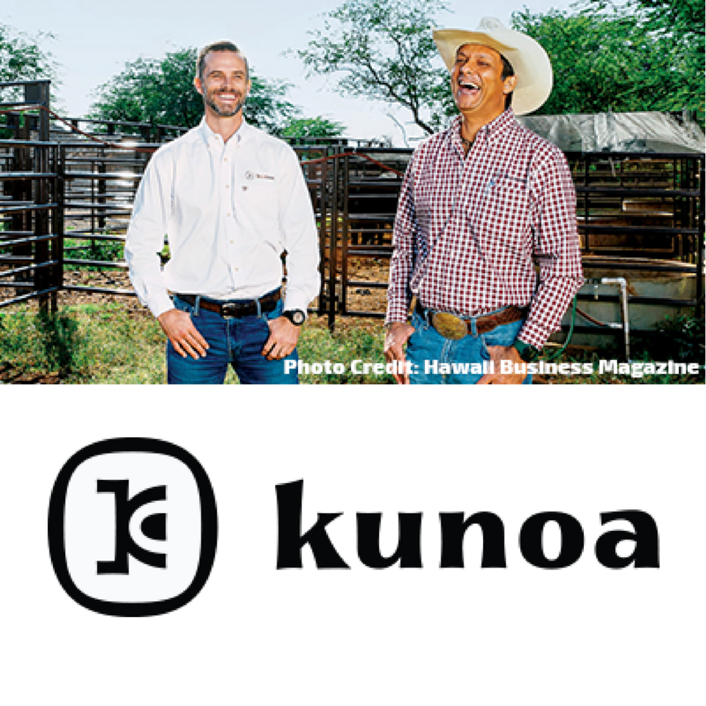 Kunoa Cattle Co   Kunoa is a sustainable Hawaii meat company. It manages a herd of several thousand cattle on Kauai, operates Hawaii's largest meat packing facility, and sells fresh and value-added Hawaii meat products to retailers, food service, and direct to consumers.   Learn more