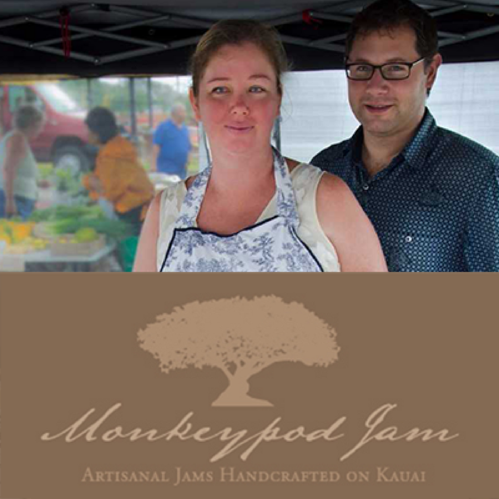Monkeypod Jam    Monkeypod Jam creates low sugar, commercial pectin-free, fruit preserves highlighting fruit grown 100% on Kauai. Based on Kauai's South Shore, Monkeypod operates a small bakery and culinary workshops for locals and visitors.   Learn more