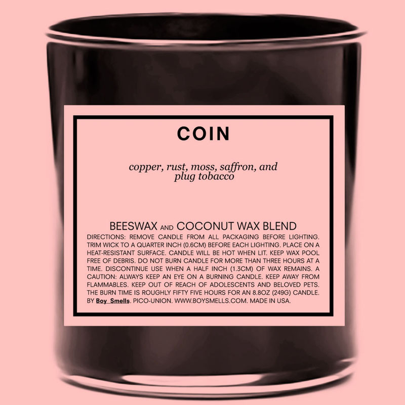 Boy Smells Coin Candle