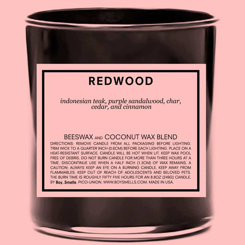Boy Smells Redwood Candle