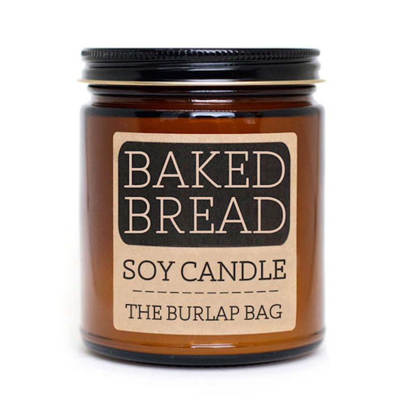 The Burlap Bag Baked Bread Soy Candle