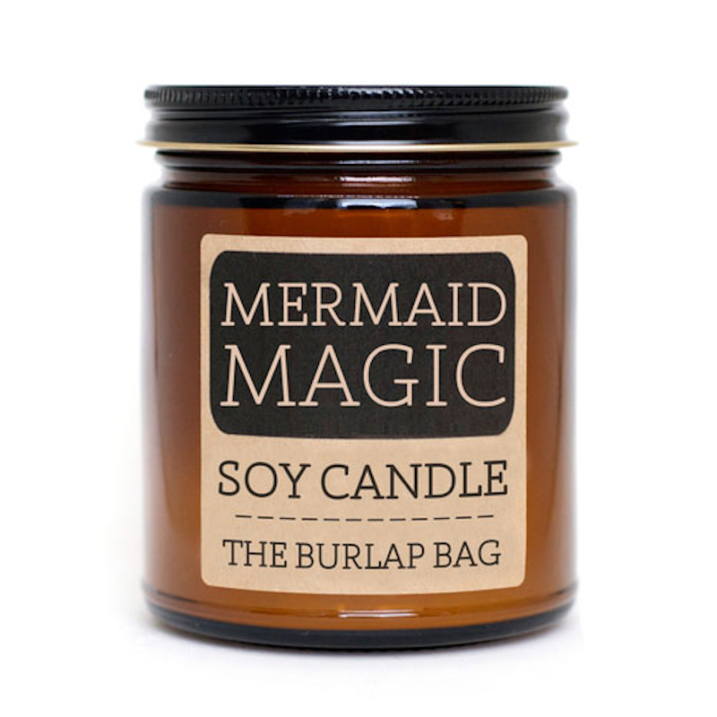 The Burlap Bag Mermaid Magic Soy Candle