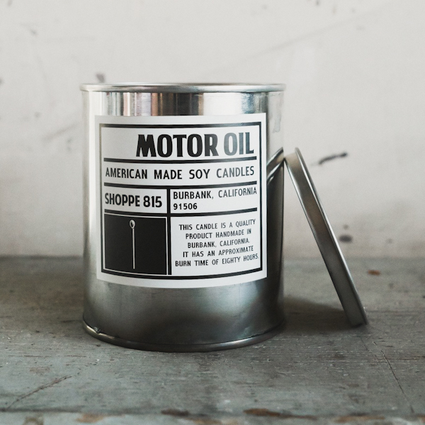 Shoppe 815 Motor Oil Soy Candle