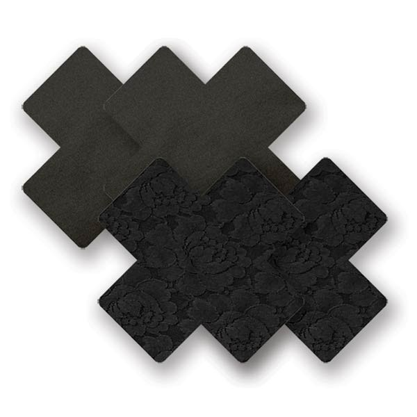 Nippies Waterproof Black Cross Pasties