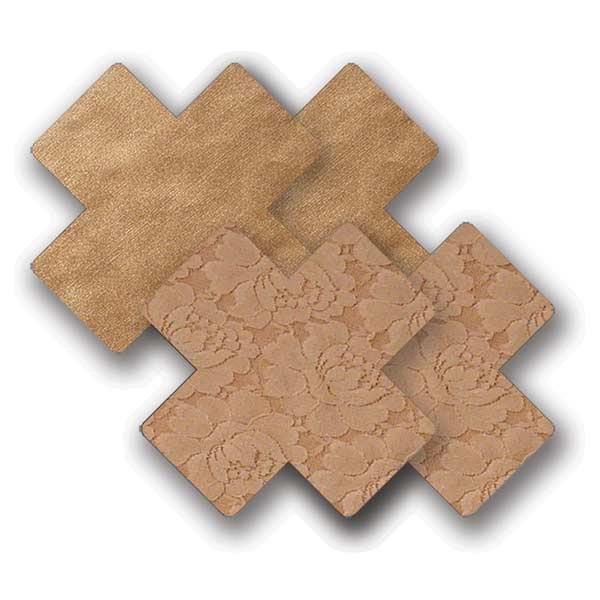 Nippies Waterproof Tan Cross Pasties
