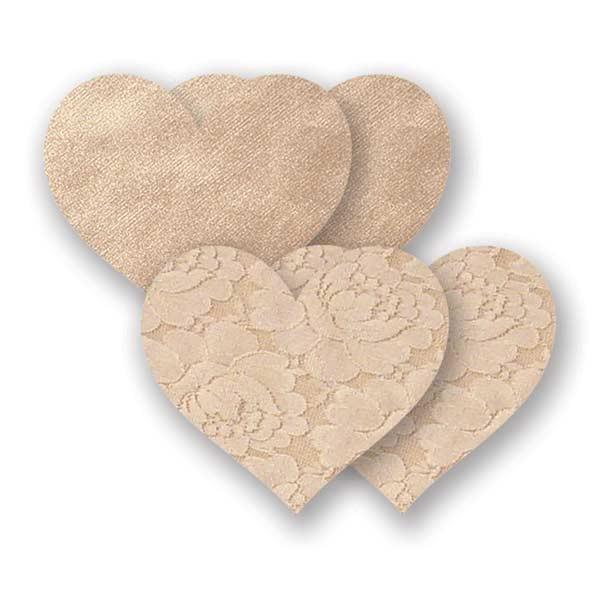 Nippes Waterproof Beige Heart Pasties