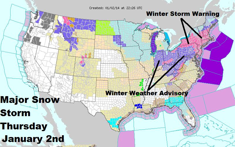 Major Snow storm Thursday into Friday the 3rd.
