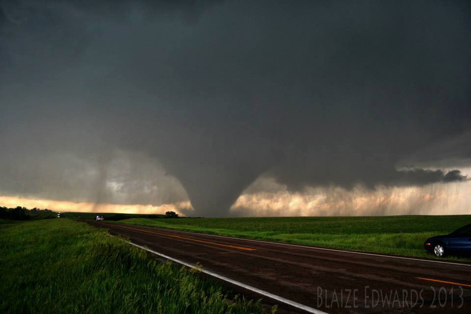 Those of us that witnessed it were in awe as it just sat there and became one of the most violent tornadoes most of us had ever witnessed. It was also the loudest tornado I've ever heard! West of Bennington, KS. May 28, 2013