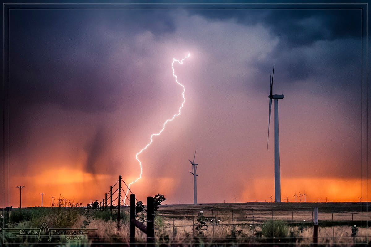 Captured this Sweet Shot just North of Sayre Oklahoma on May 25th 2012. After chasing this storm for an hour I came upon this wind farm and just had to stop and try to get something here. I managed to capture numerous shots here and this is one of them.