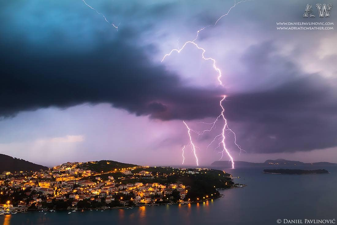 Dubrovnik, Croatia, thunderstorm, 16. May 2012.