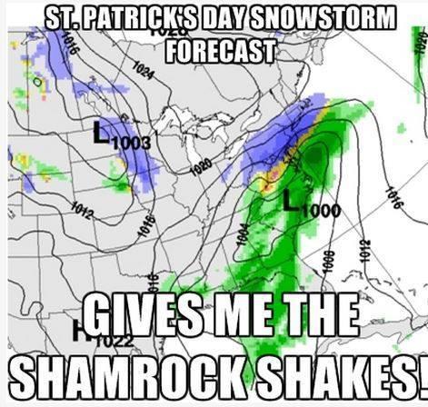 Snow on St Patrick's Day