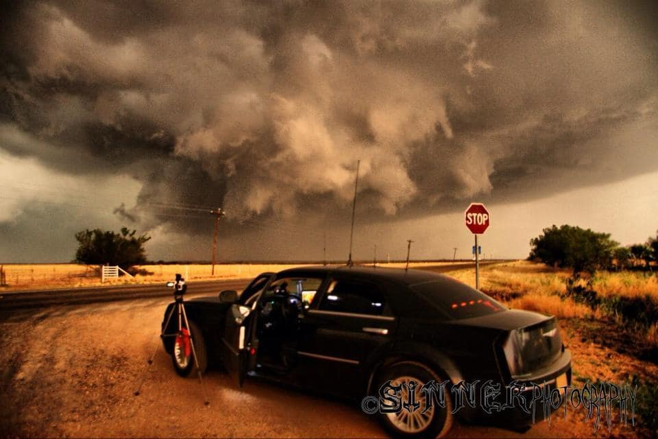30 May 2012 Crazy wall cloud One of my favorite pictures. This was taken just west of Benjamin, TX. This supercell was massive, and the wall cloud was churning like crazy. This was one hell of a chase.