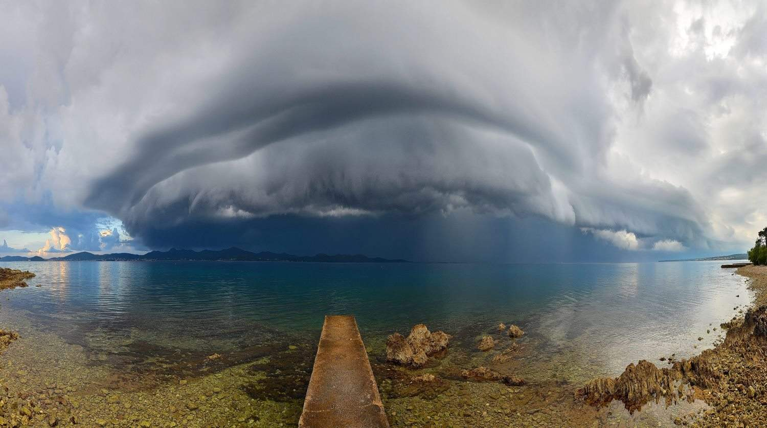 My name is Marin and I'm weather & landscape photographer from Croatia,Zadar..I'm chasing storms 17 years and in last 4 years began to photograph them..I'm starting with this beautiful shelf cloud in front of Zadar in Jun 2013 in early morning..this was a real morning beast..!