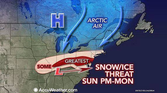 Winter Weather for portions of the NE from Accuweather.com