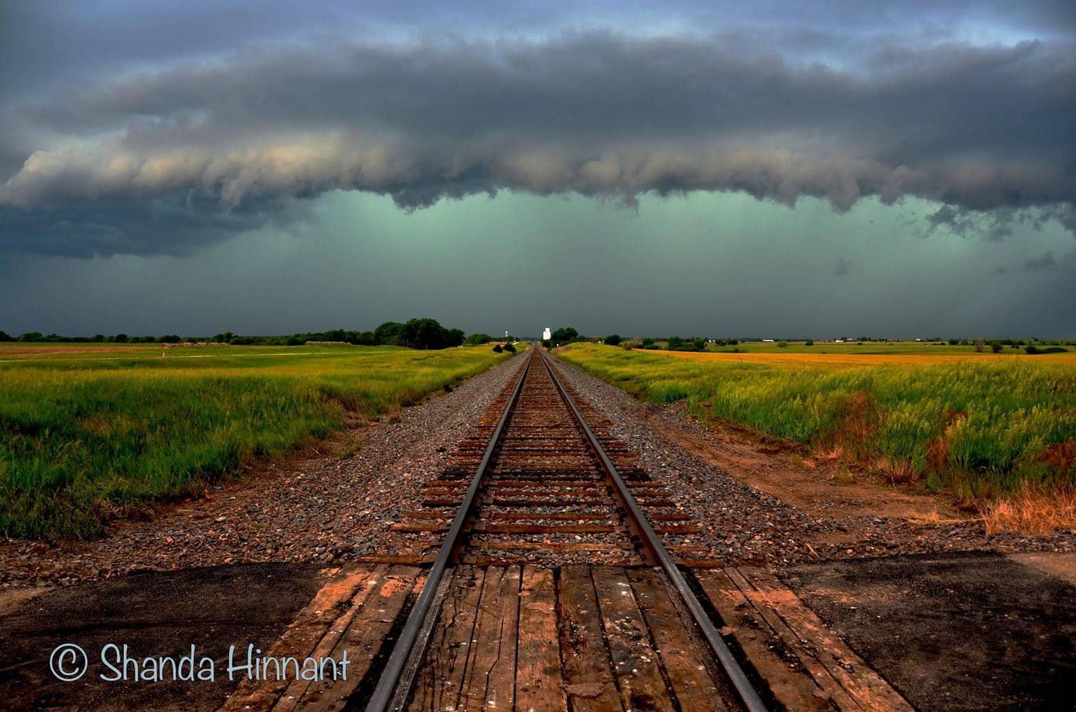 ARide into the storm. June 8, 2013 near Russell, Kansas.