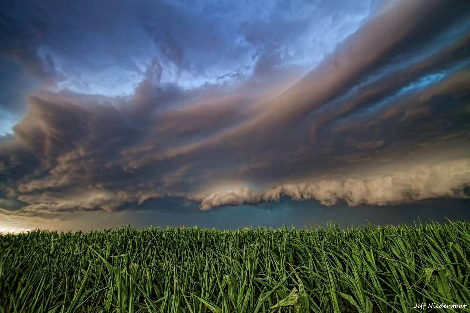Near Fort Morgan,CO. Raced to try and get to the edge of this shelf cloud while trying to find something to add to the frame in the foreground. A corn field was the best I was able to do. This is one of my favorite photos from 2013. Canon T3 Tamron 10-24mm f/3.5 ISO 100 1/80s