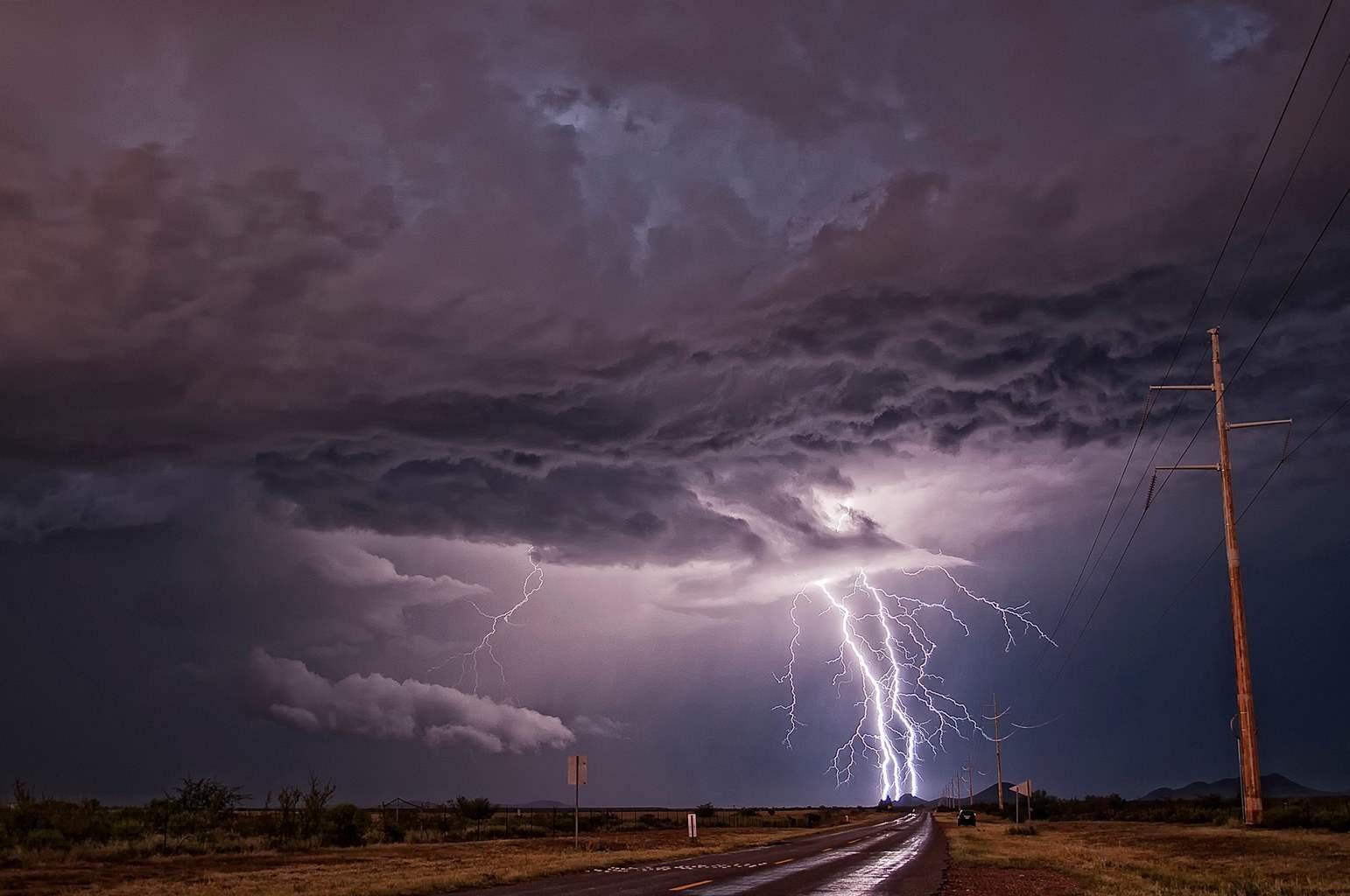 A monsoon thunderstorm just north of Sierra Vista, AZ. Sept, 2011.