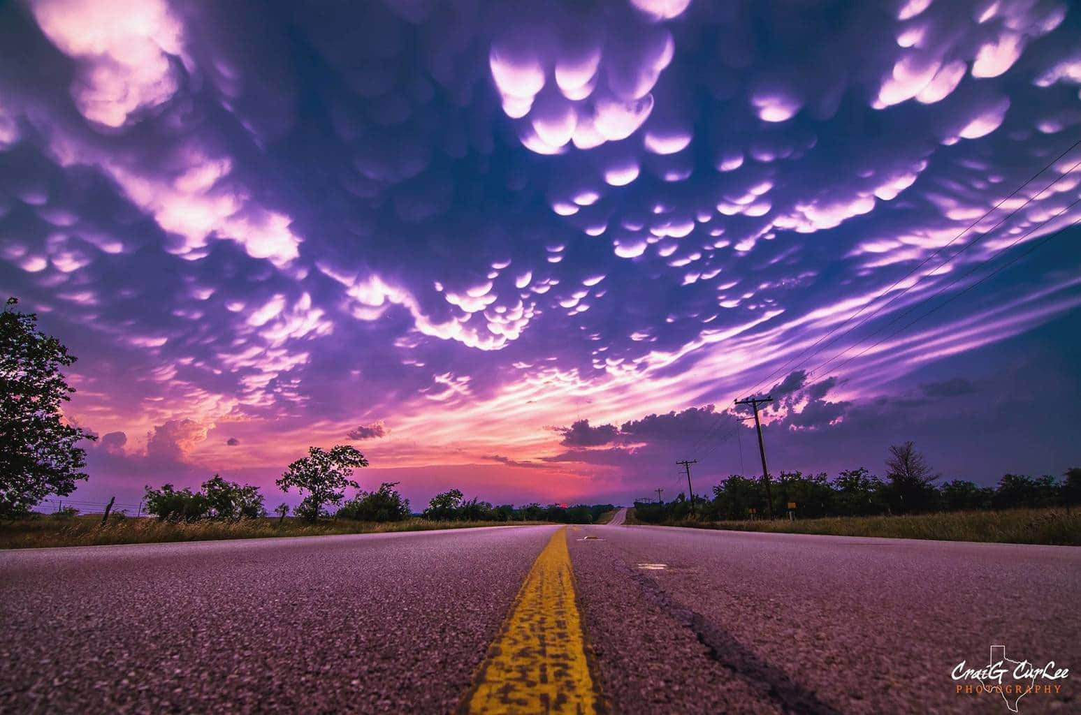 Sunset with Mammatus Clouds in near Glen Rose, Texas last Spring. I like to use a ND filter to take out glare and it really clears the shot up a lot.