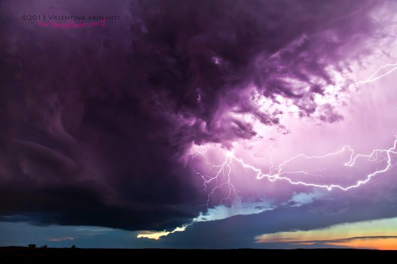 CC lightning from an LP supercell in north east Colorado on June 15th 2013.