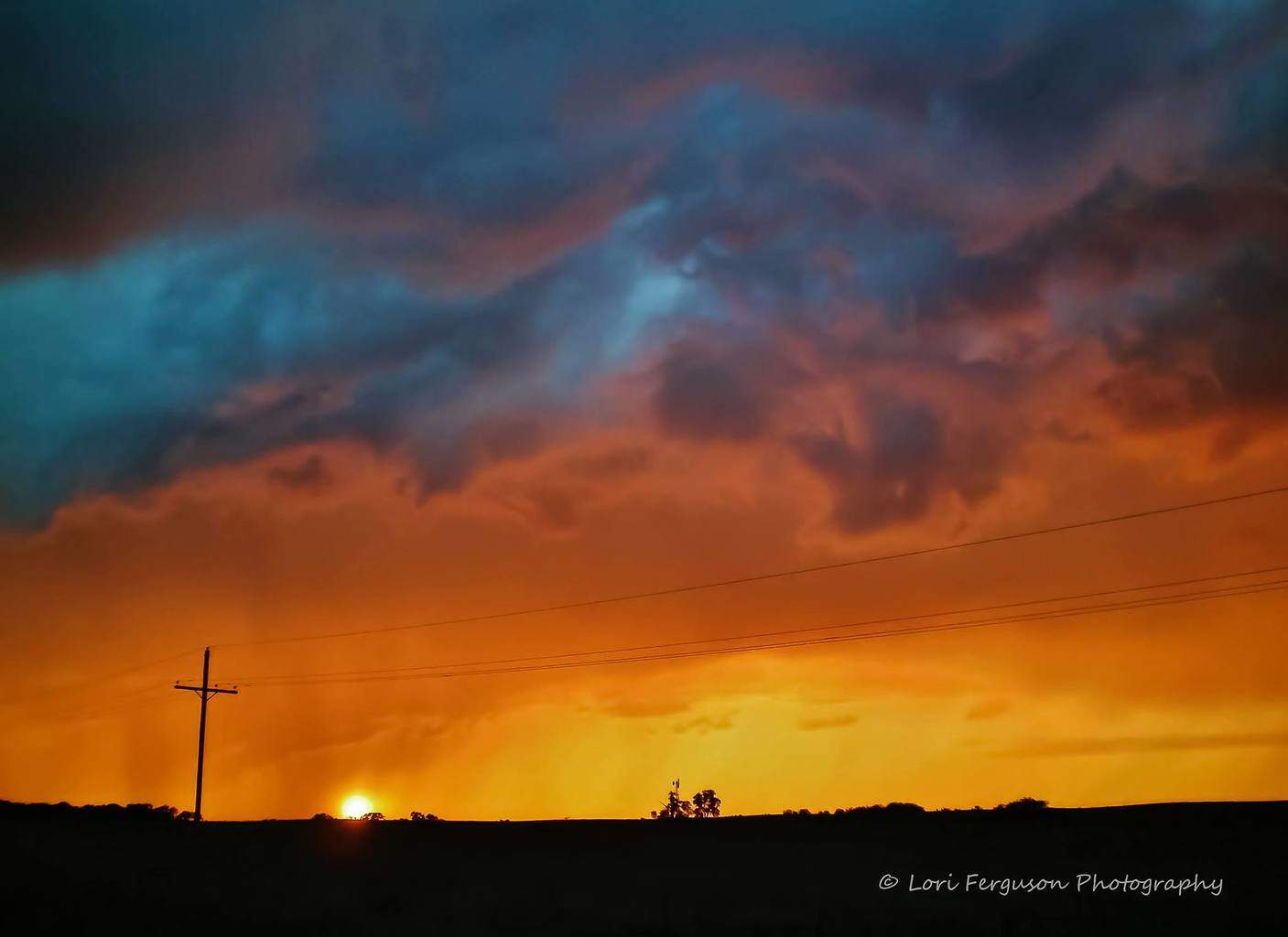 Kansas sunset as a severe-warned storm passes. Taken in May 2011.