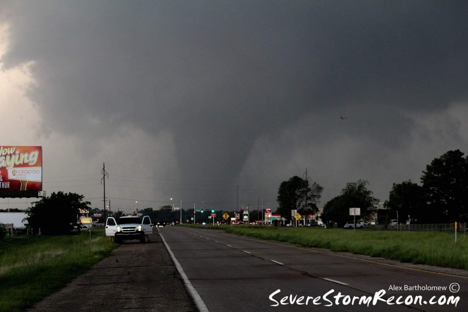 May 19th,2013 was the best chase day I have ever had. Amazing structure and numerous tornadoes including the one pictured below. This was the Shawnee,Ok EF4 tornado. This is the most violent tornado I have ever seen