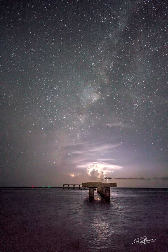 Taken 8-12-`13. A friend and I wanted to go out and shoot the Perseid meteor shower. Of course, being the middle of Aug. in S.W. Florida, the storms gave us something more interesting to look at.