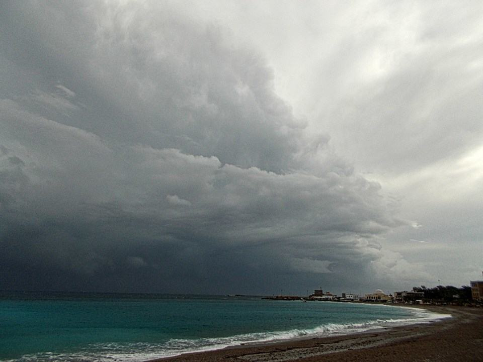 Thats my kind of supercell.combining the beauty of Elli beach in Rhodes Greece and a huge cell can only give a moment of magic!!!!01/2014!!