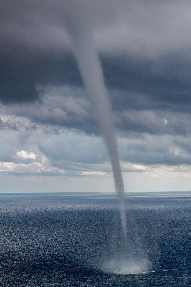 Waterspout near Dubrovnik