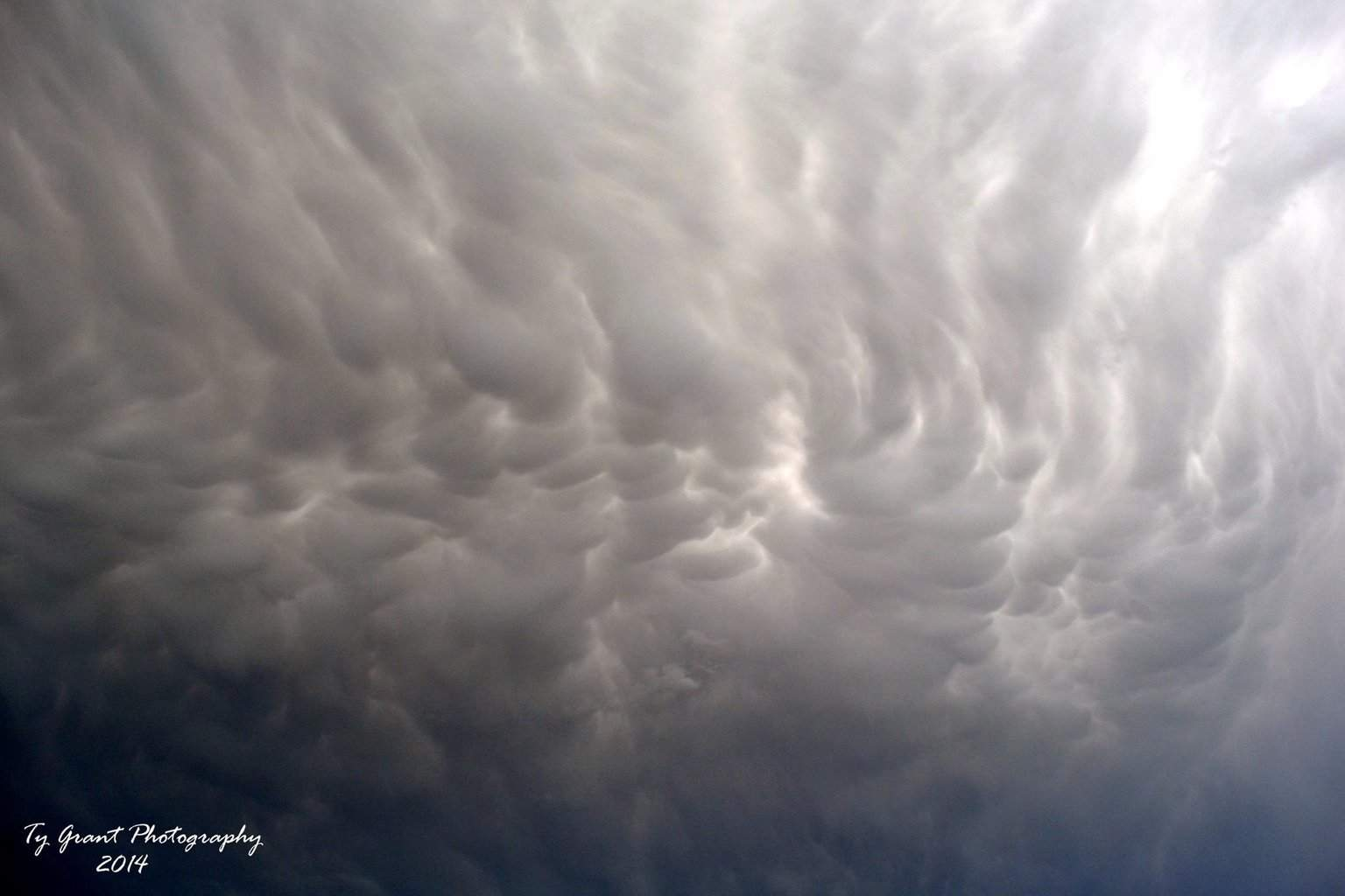 I am a 16 year old kid that loves weather. Here's a great shot of some mammatus clouds that I got today. 3/28/2014. Belton, TX.