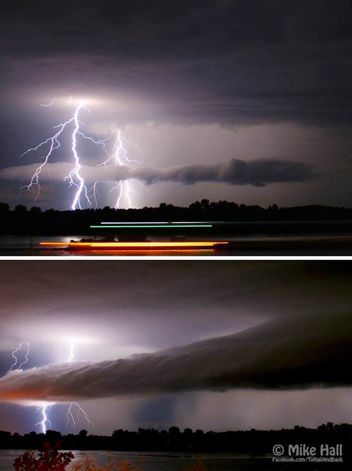 July 19th, 2012 in Lewisport, KY. These two images were shot just 9 minutes apart over the Ohio River.
