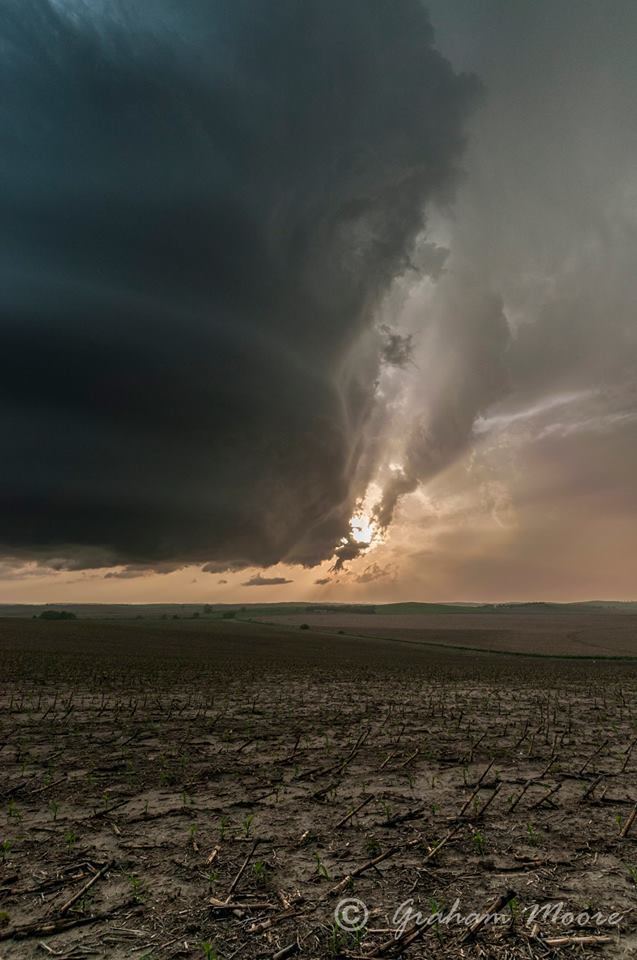 Nebraska Broken Bow, Early stages of the storm..Nice Hail, lovely structure...