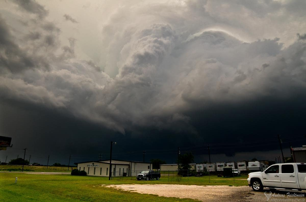 May 15th 2013 Massive backside of the tornadic supercell in Granbury, Texas.