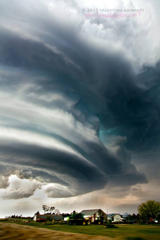 LP supercell near Julesburg, Colorado, on May 28th 2013.