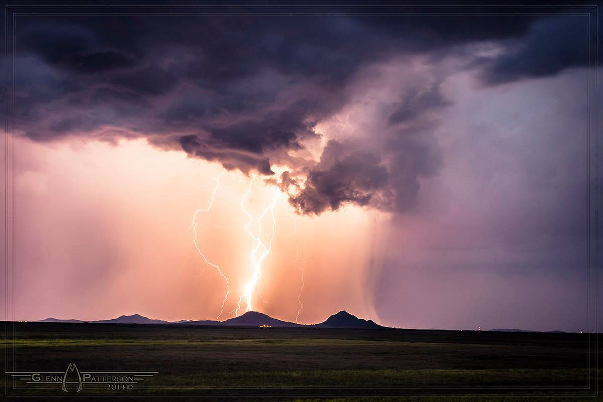 Beautifully Colored Strike over some small Mountains just Southeast of Roosevelt Oklahoma I took on September 15th 2013. Enjoy