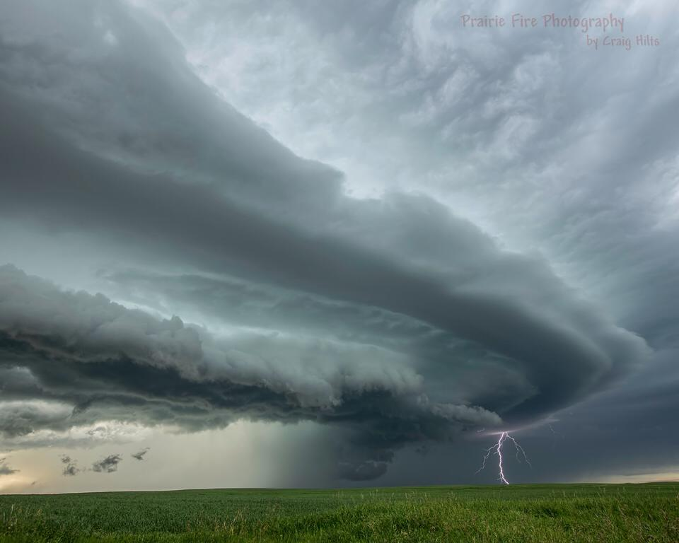 Captured on June 30,2013 near Simmie, Saskatchewan. Was going to call this one Sharknado as the shelf cloud formed to look like a sharks head.