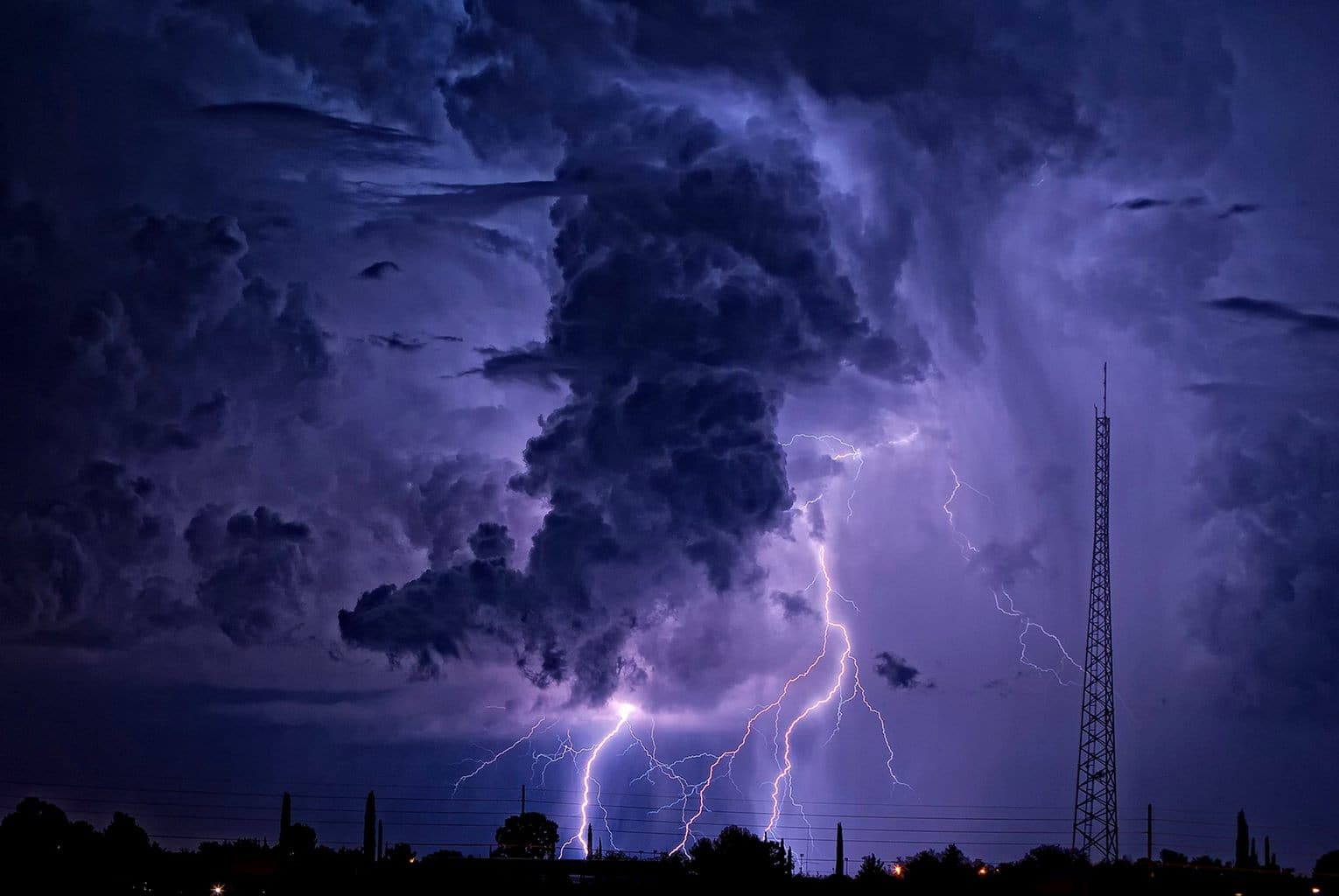 15 August, 2010. Two monsoon storms collide, and create a beautiful scene.
