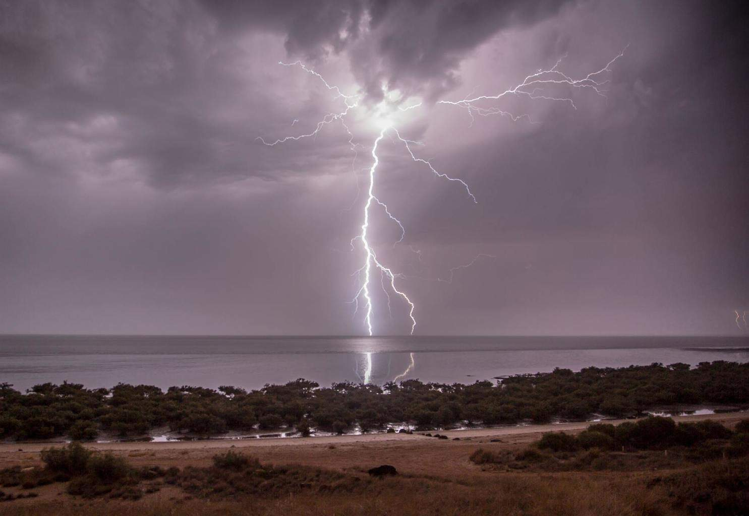 This is one of the many bolts I captures on Friday Night off Karratha in North Western Australia, but this one was so bright that it lit up everything like it was daytime..