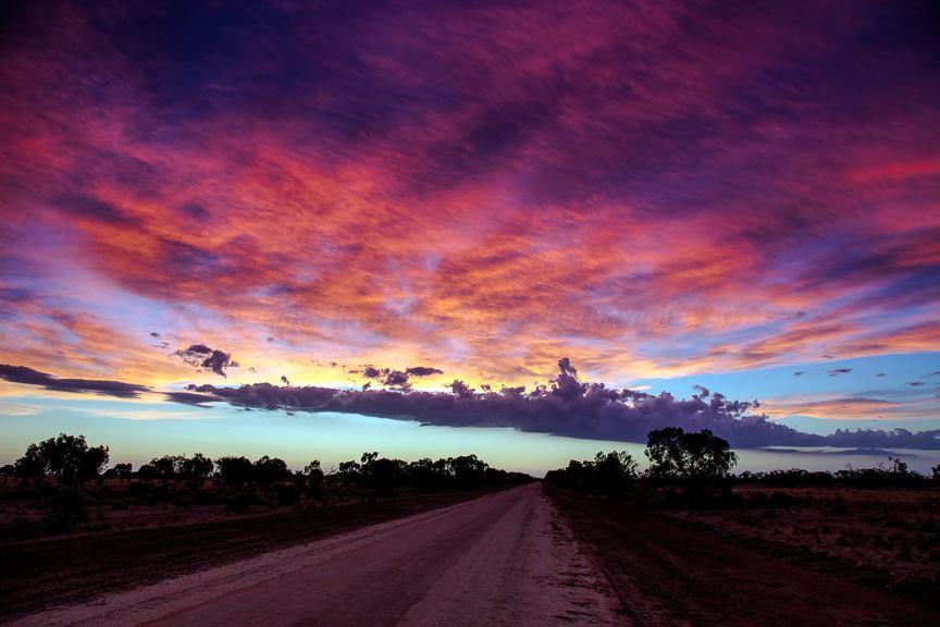 Sunset colours near Jerilderie, Australia - Jan 4th 2015.