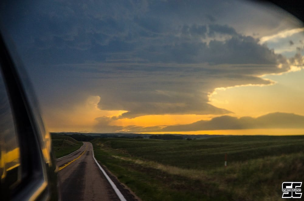 Gorgeous LP supercell at sunset west of North Platte, NE back on June 3rd, 2014.