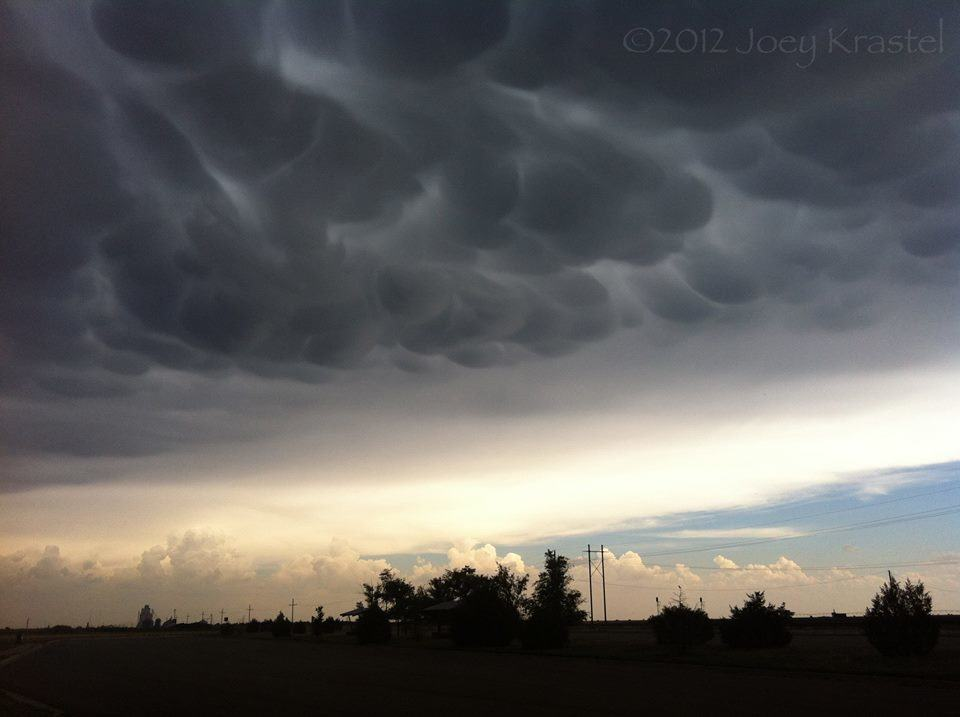 Mammatus over Amarillo, TX  June 1, 2012