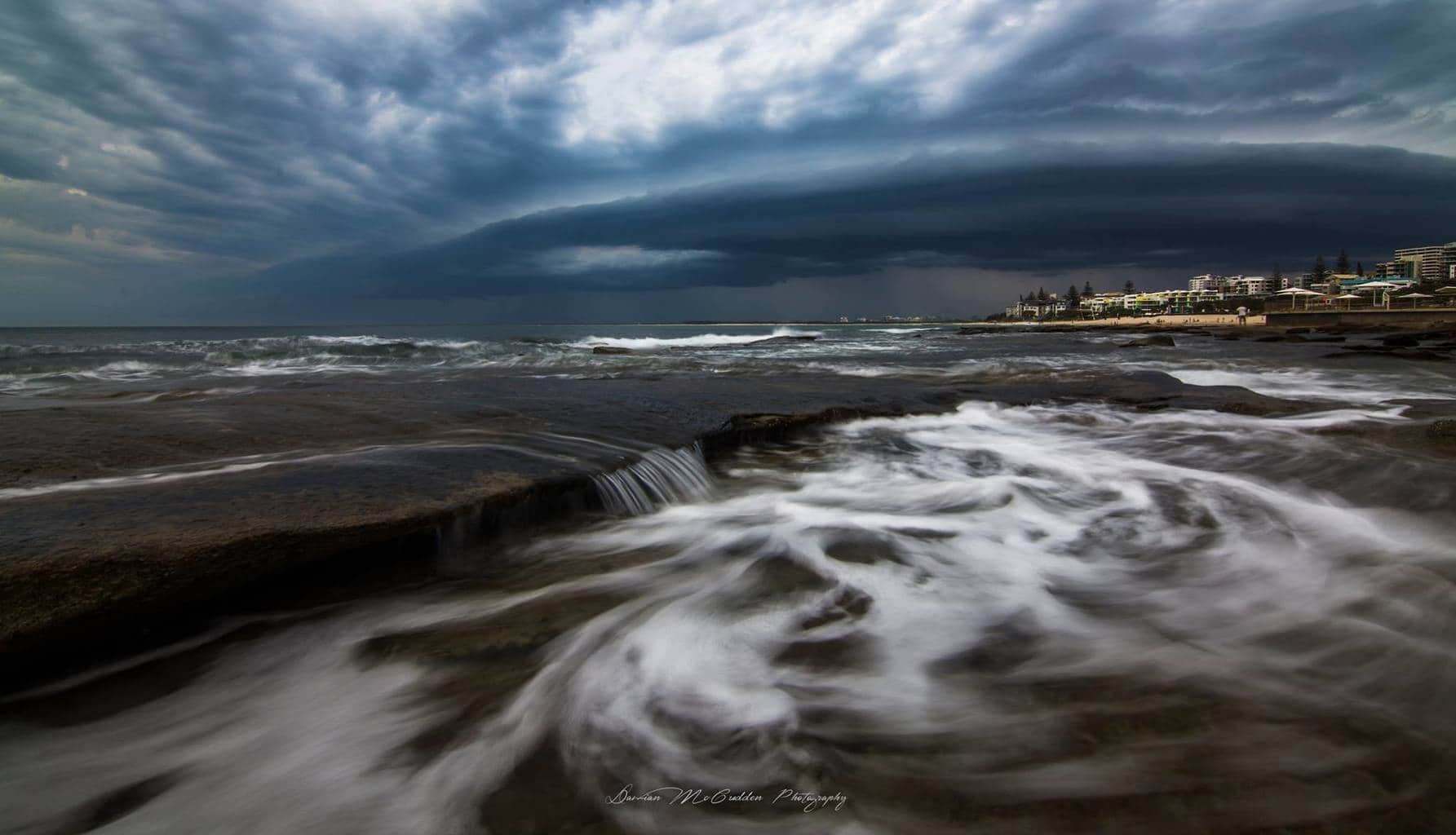 Hey guys,  I took this shot of a storm front crossing Kings Beach, Australia a few weeks ago smile emoticon  Hope you like it!