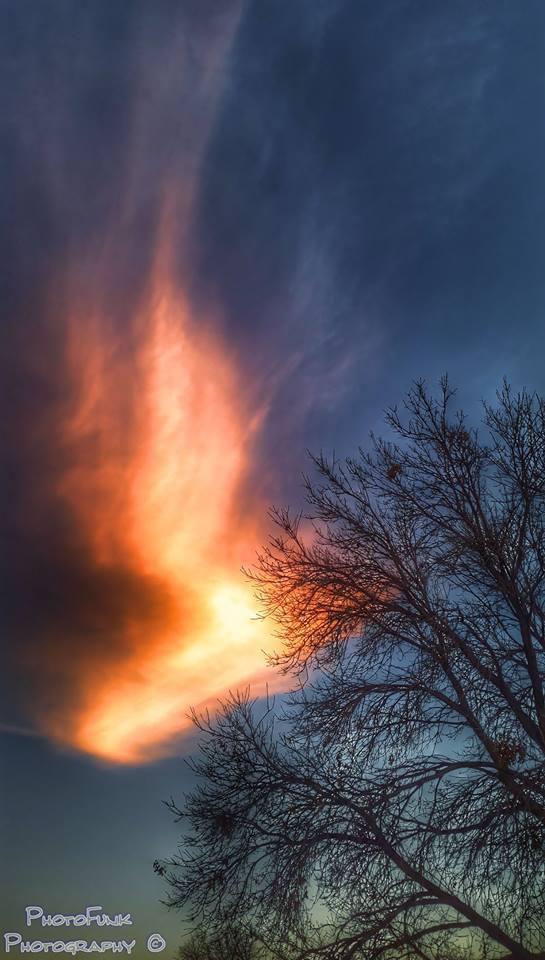 Phoenix Tail over Scottsbluff NE.