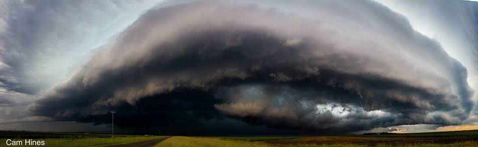 Another photo from our Australia Day storm chase through the Darling Downs region in QLD, Australia. This is 5 shots stitched together as a pano of a storm that had just produced nearly baseball sized hail. Great day chasing with good mates!