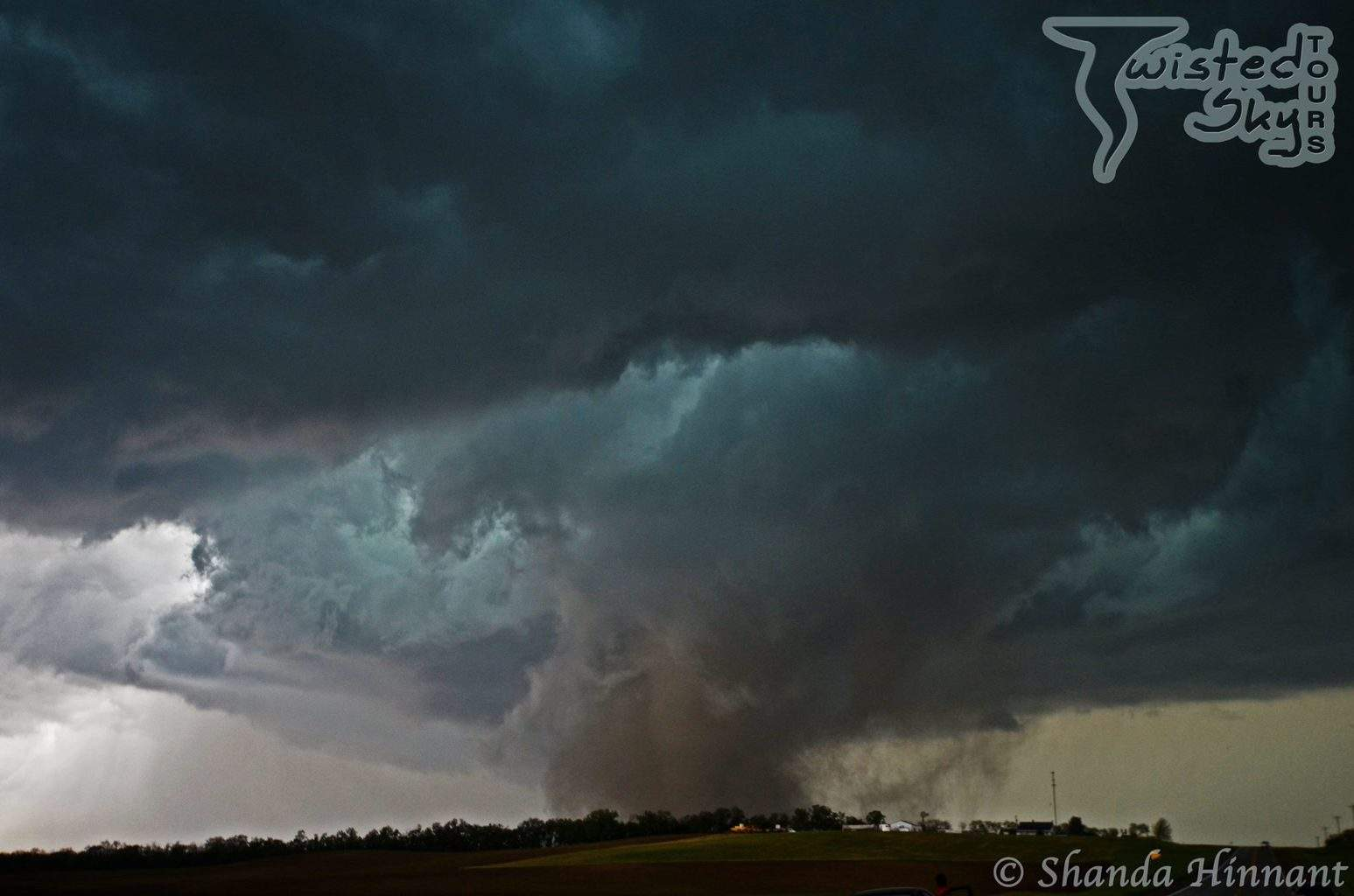 One of the two tornadoes near Pilger, Nebraska - June 16, 2014 A day that not many will forget.